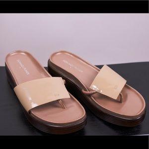 Donald J Pliner Fifi beige platform sandals